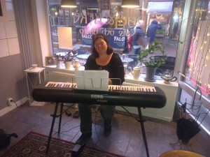 Musik på galleri, lounge piano, improvisation